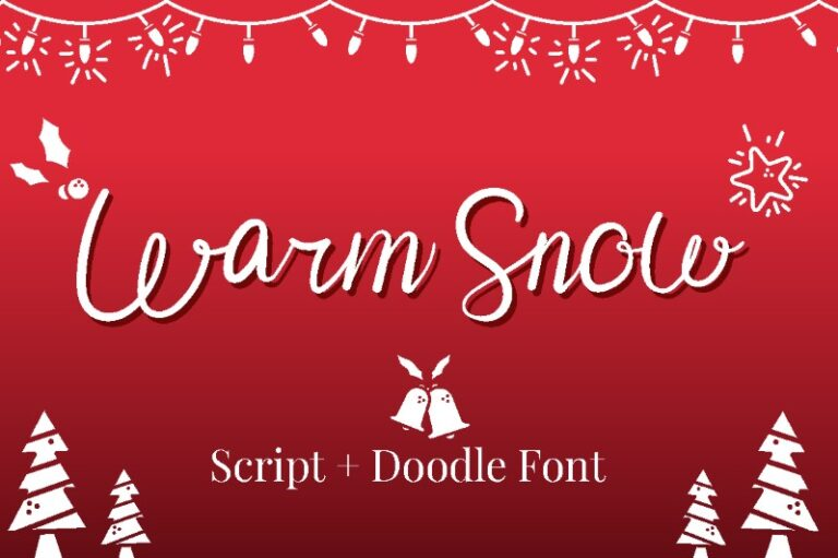 Warm Snow - Christmas Font