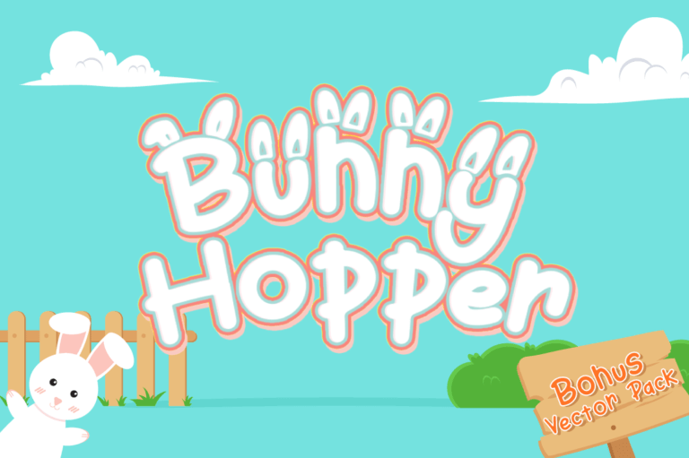 Preview image of Bunny Hopper – Easter Font