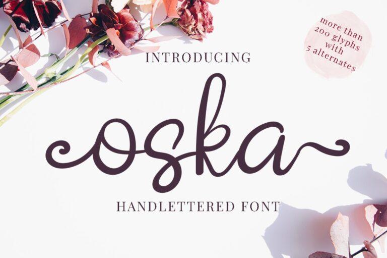 Oska - Handwritten Font