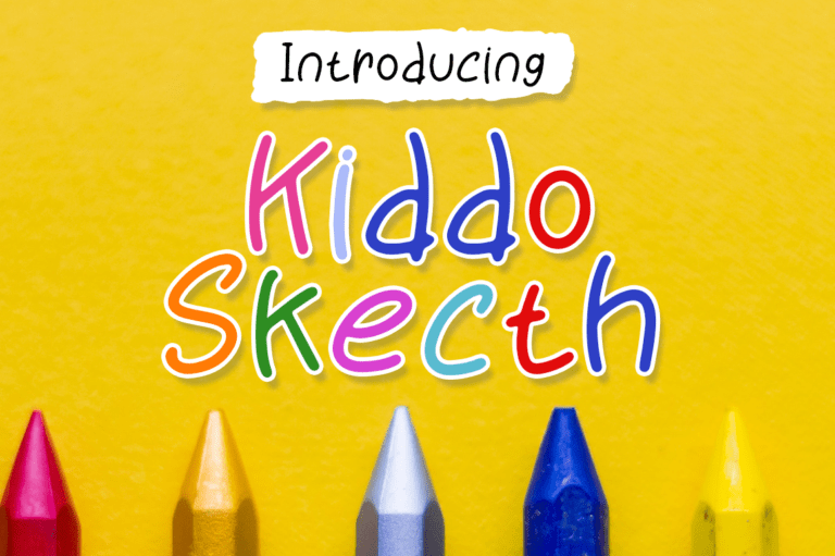 Kiddo Skecth - handwritten font