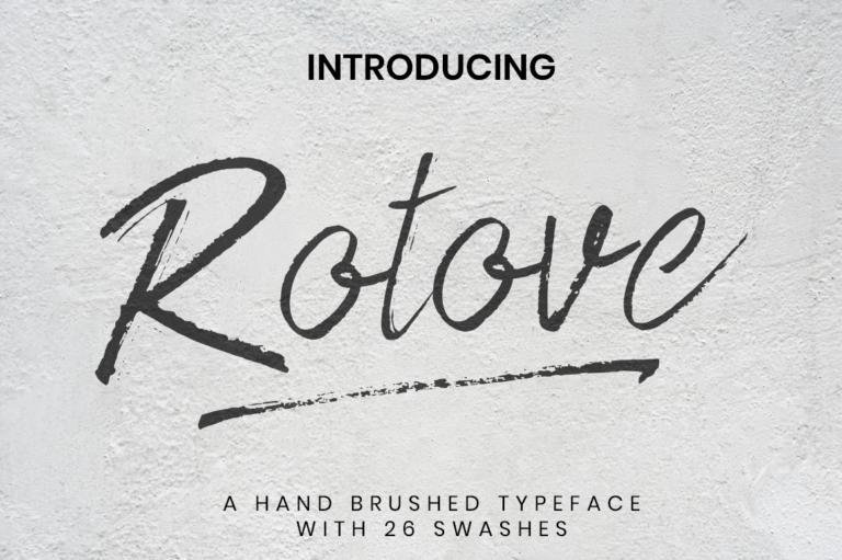 Rotove - Brush Font
