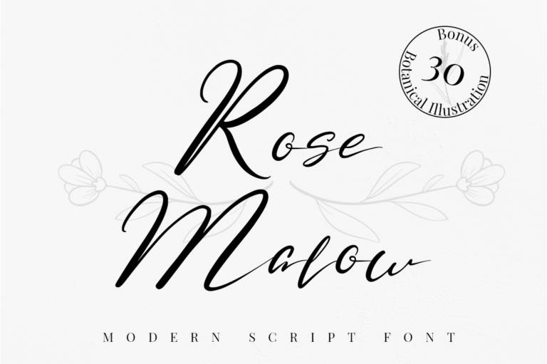 Rose Malow - Calligraphy Font