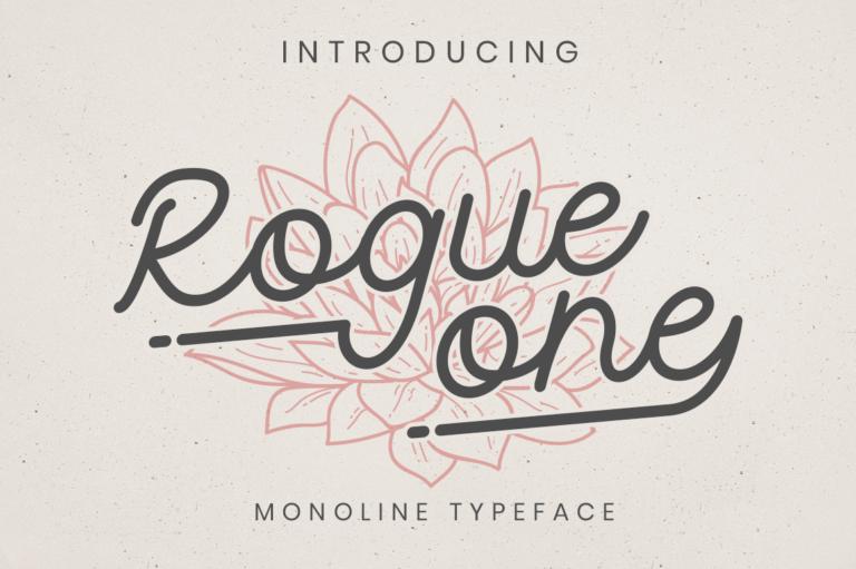 Rogue One - Monoline Script Font