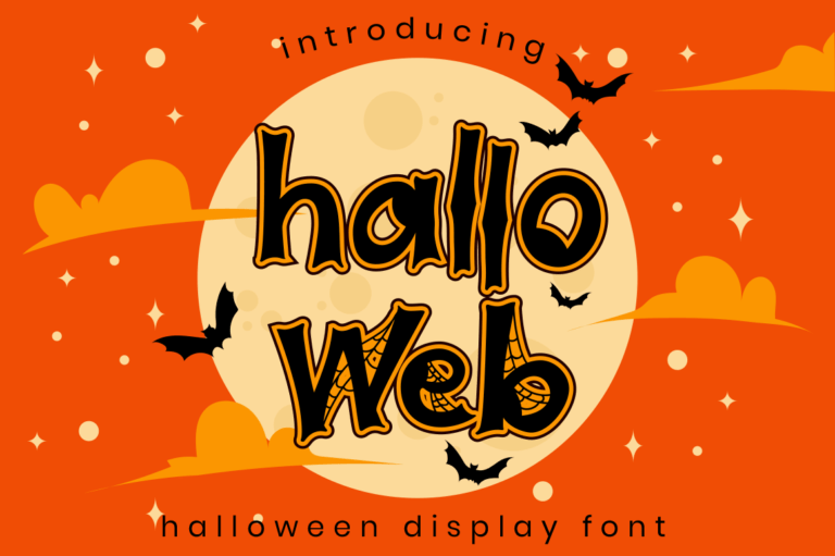 Hallo Web - Halloween Font