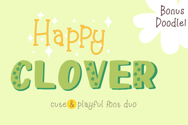 Happy Clover Font Duo