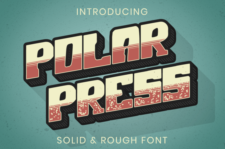 Polar Press - Vintage Font