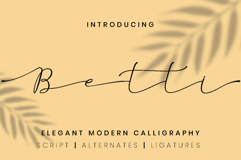 Preview image of Betti – script font