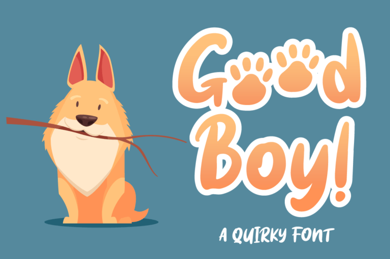 Good Boy - Display Font