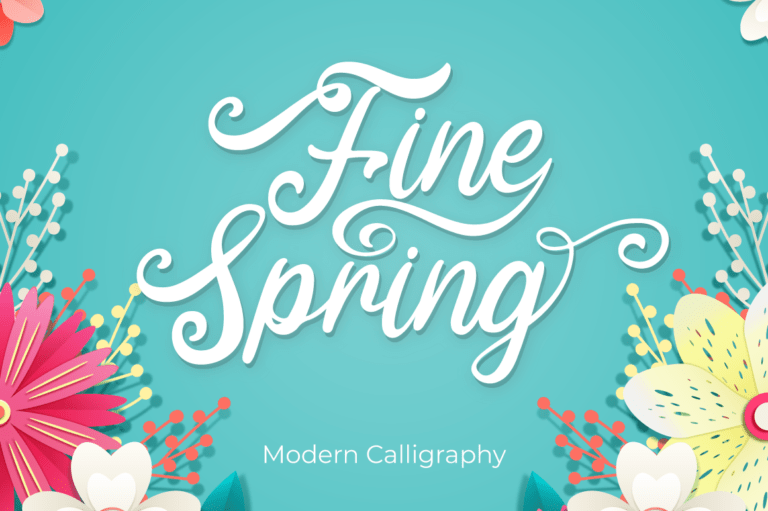Preview image of Fine Spring – Wedding Font