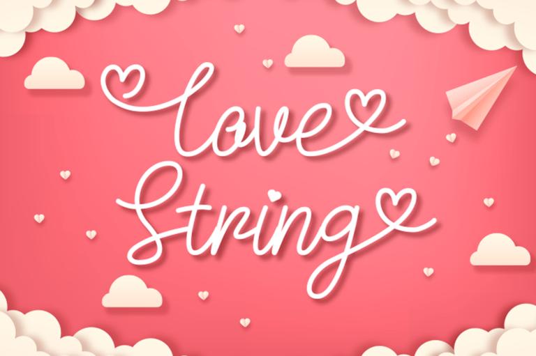 Love String - Script Font