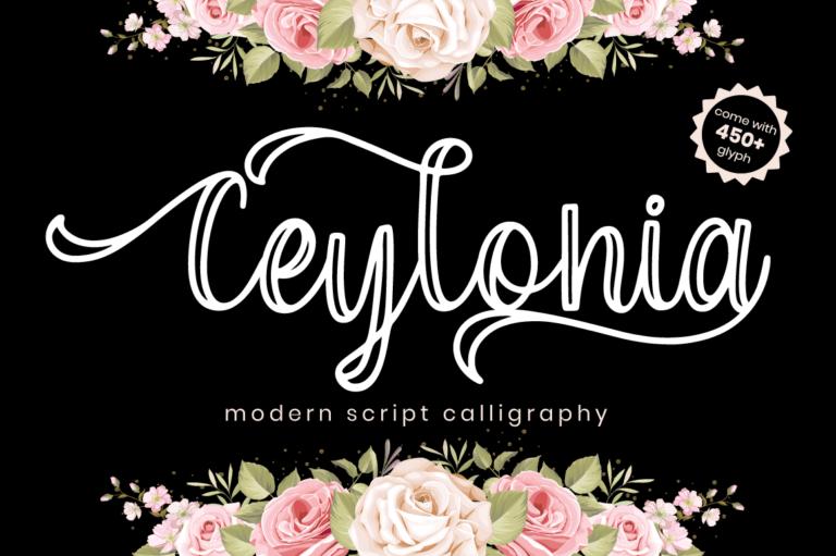 Ceylonia - Script Font