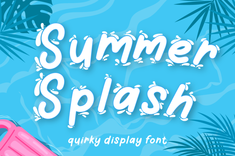Summer Splash - Summer Font