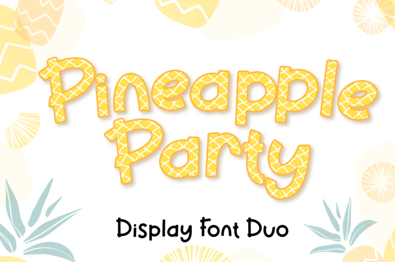 Pineapple Party - Summer Font