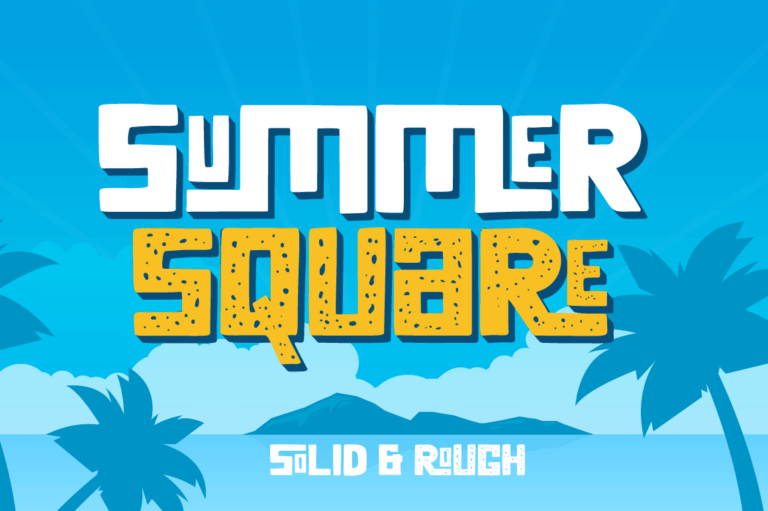 Preview image of Summer Square – Vintage Font