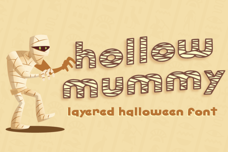 Hollow Mummy - Halloween Font