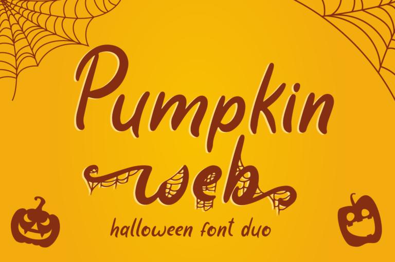 Pumpkin Web - Halloween Font