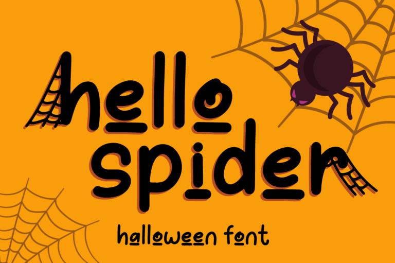 Hello Spider - Halloween Font