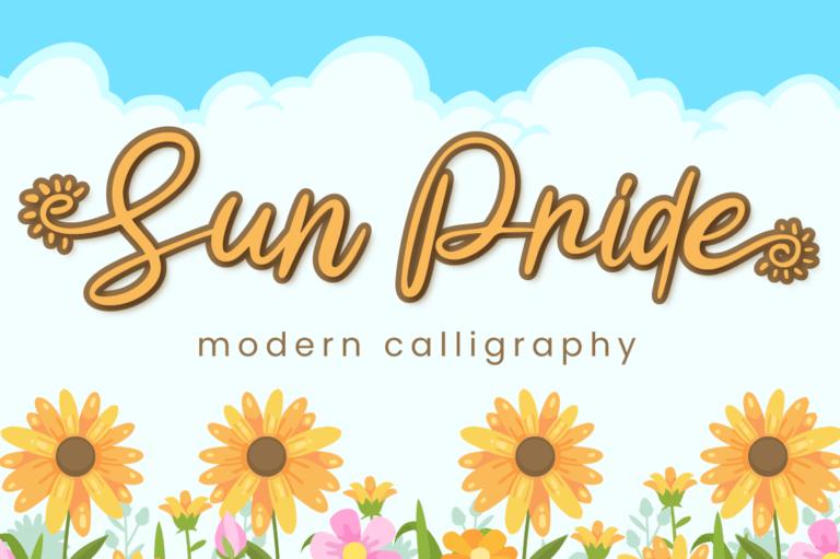 Sun Pride - Script Font
