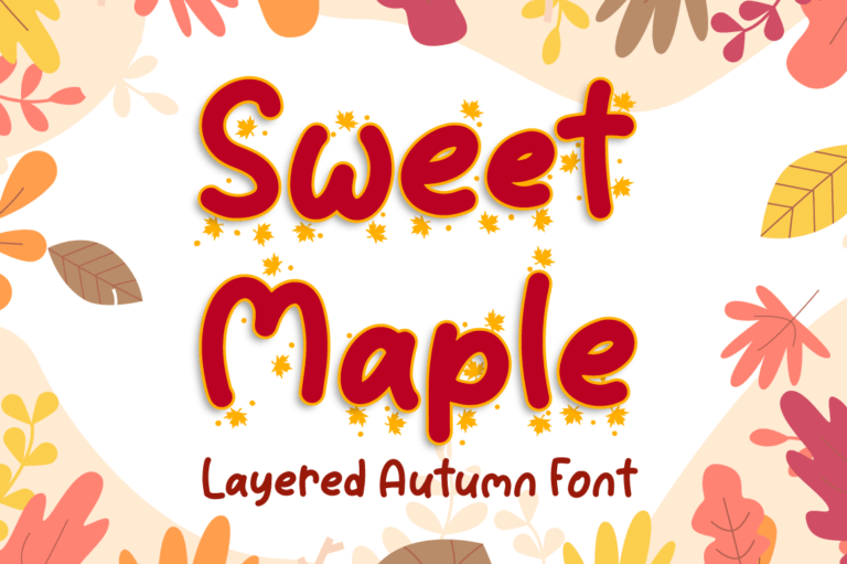 Preview image of Sweet Maple – Autumn Font