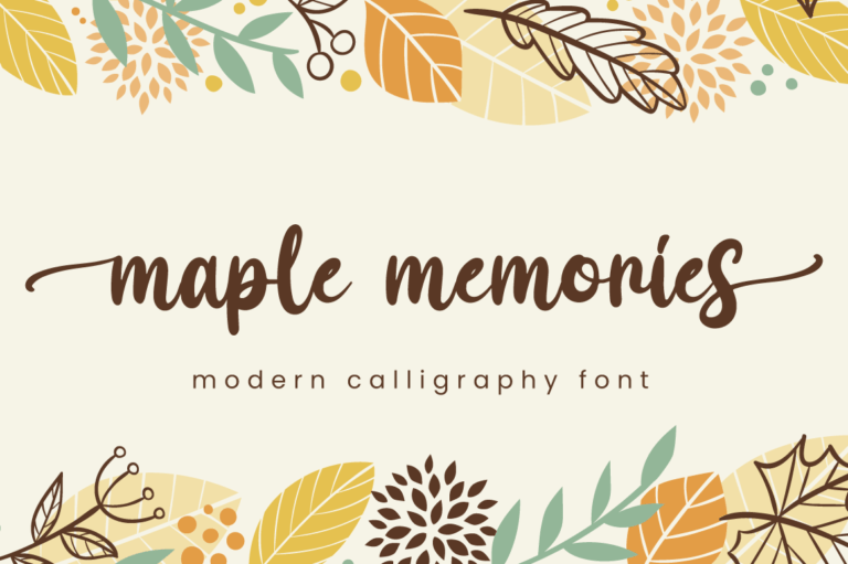 Maple Memories - Script Font