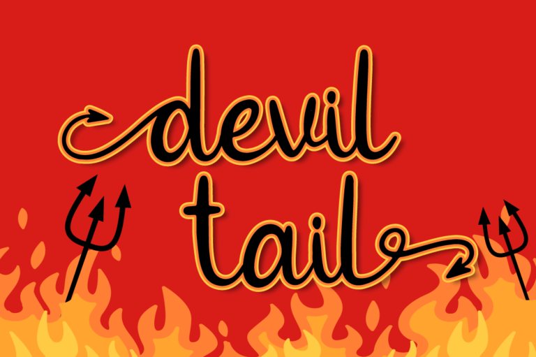Preview image of Devil Tail – Halloween Font