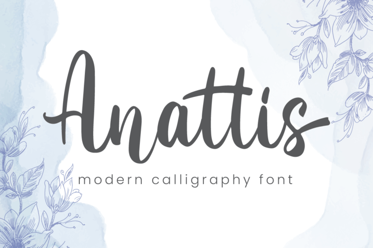 Anattis - Modern Calligraphy Font
