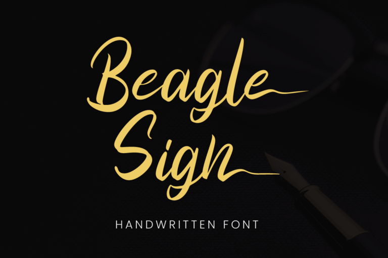 Beagle Sign - Handwritten Font