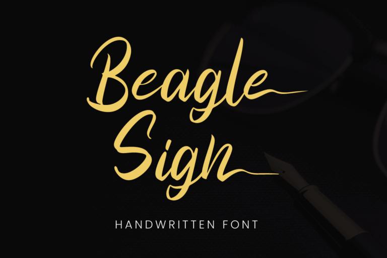 Beagle Sign - Handwritten Font