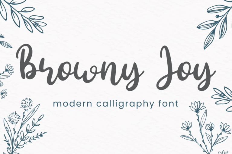 Browny Joy - Modern Calligraphy Font