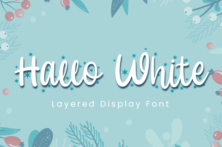 Hallo White - Christmas Font