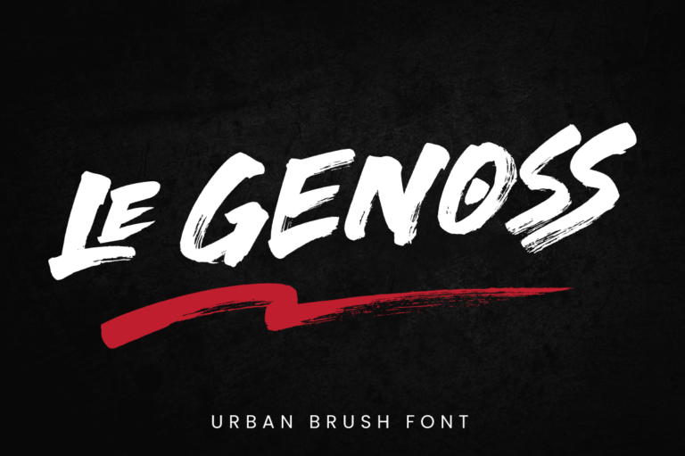 Le Genoss - Urban Brush Font