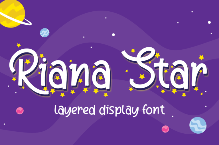Riana Star - Display Font