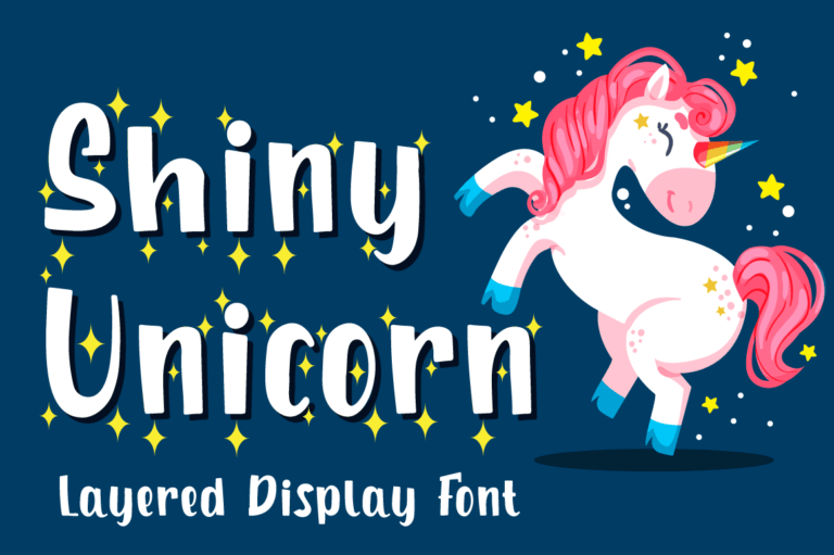 Shiny Unicorn - Unicorn Display Font