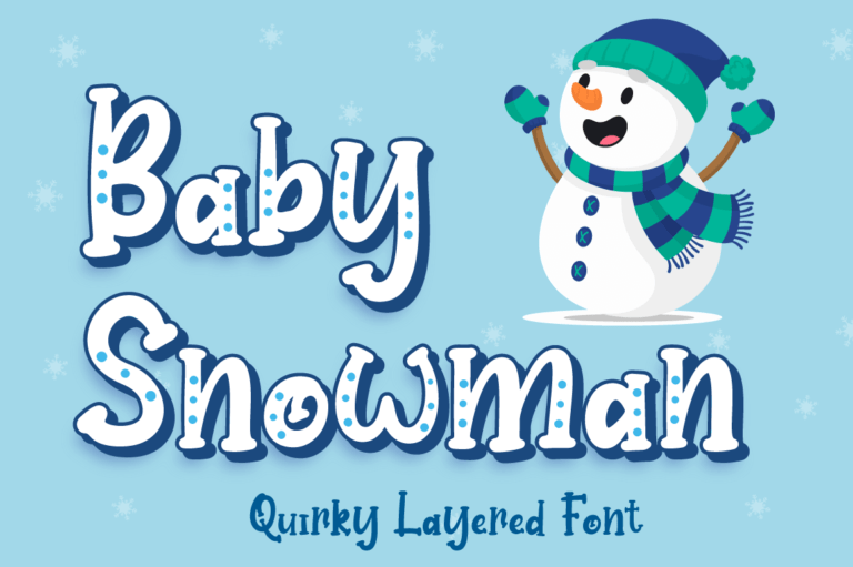 Baby Snowman - Christmas Font