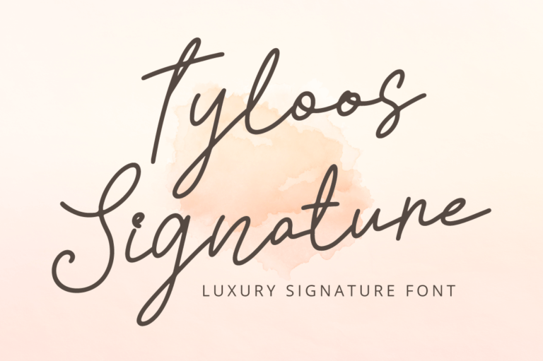 Preview image of Tyloos Signature – Handwritten Font