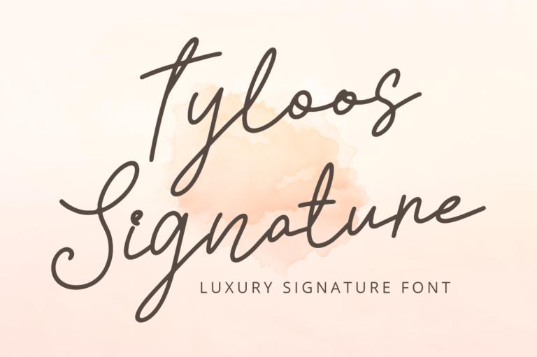Tyloos Signature - Handwritten Font