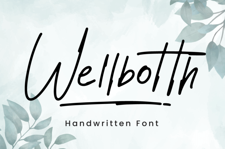 Wellbotth - Handwritten Font