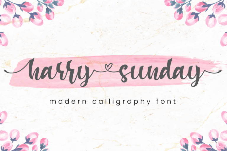 Harry Sunday - Modern Calligraphy Font