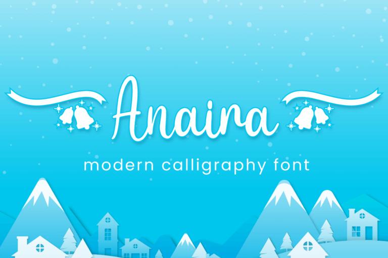 Preview image of Anaira – Christmas Font