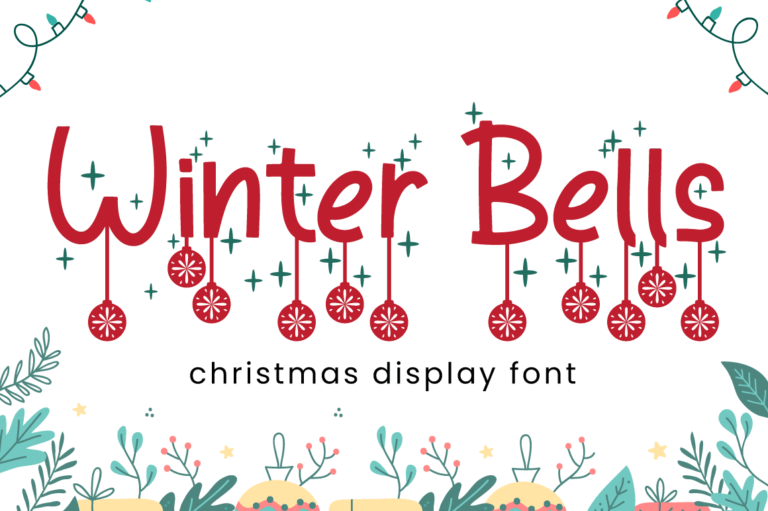 Preview image of Winter Bells – Christmas Font