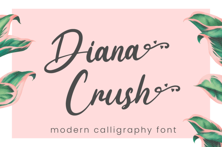 Diana Crush - Wedding Font