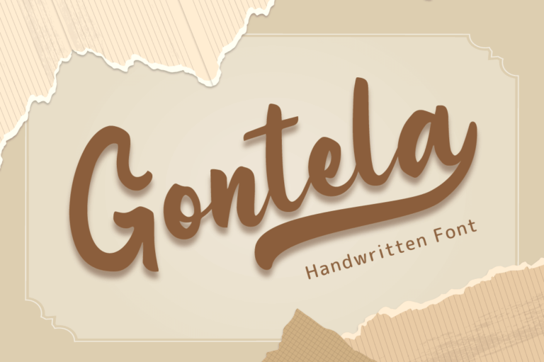 Preview image of Gontela – Handwritten Font