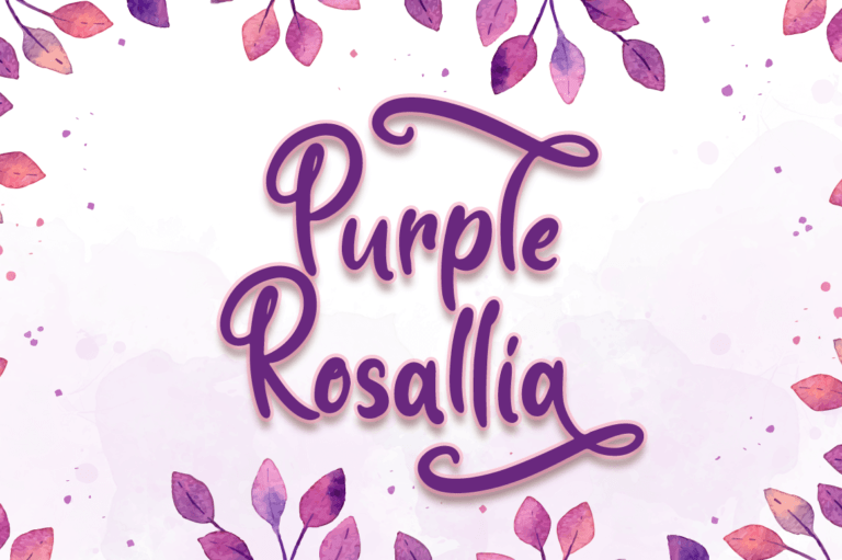 Purple Rosallia - Wedding Font