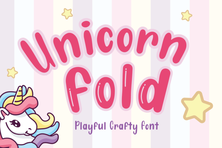 Unicorn Fold - Display Font
