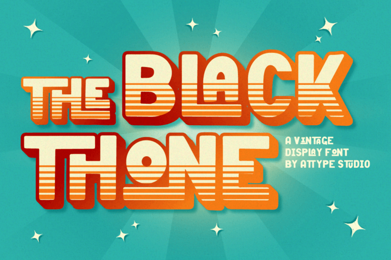 Black Thone - Vintage Display Font
