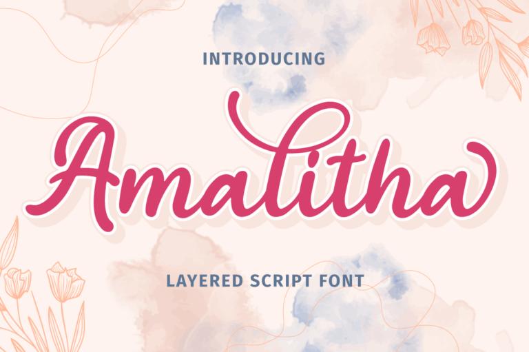 Amalitha - Layered Script Font