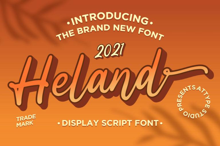 Heland - Display Script Font
