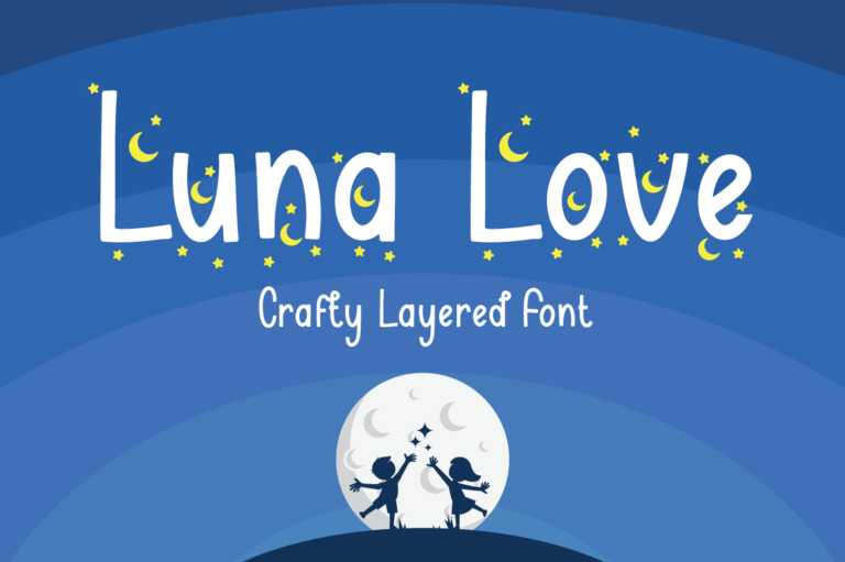 Luna Love - Layered Crafty Font