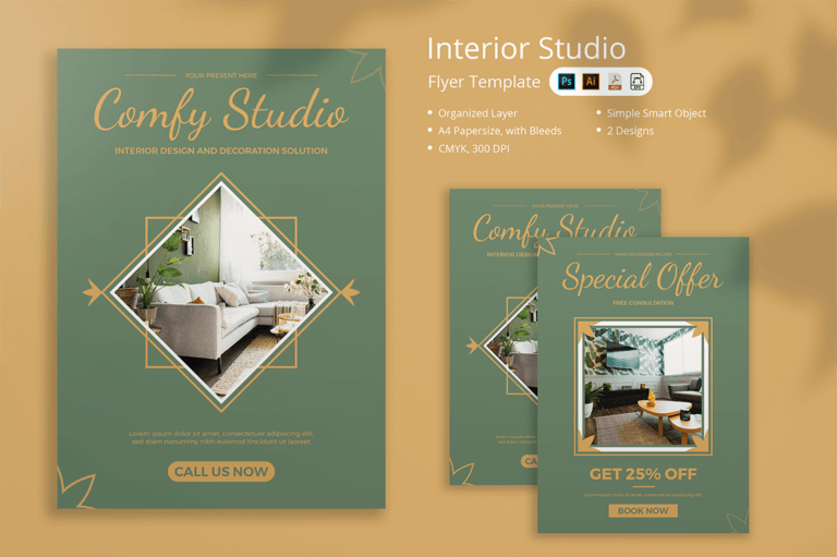 Interior Studio Flyer