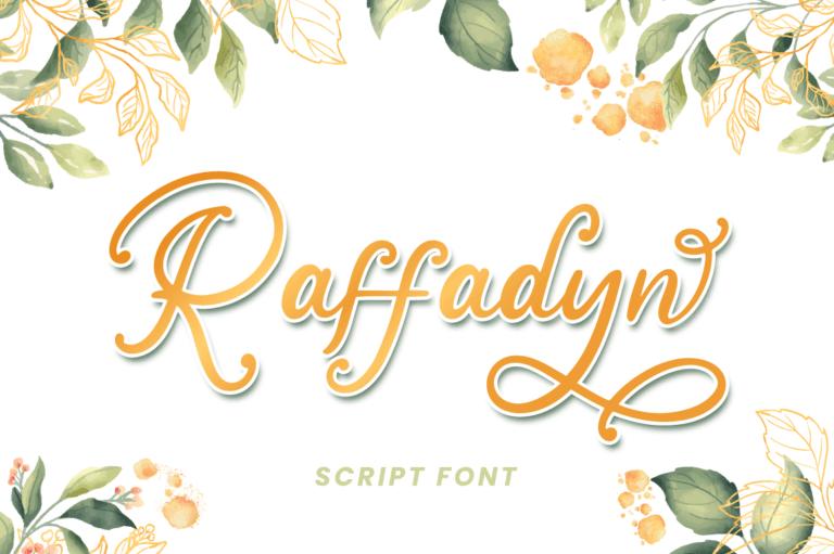 Raffadyn - Wedding Font